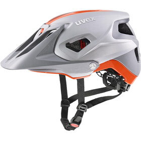 UVEX Quatro Integrale Casco, silver/orange matt